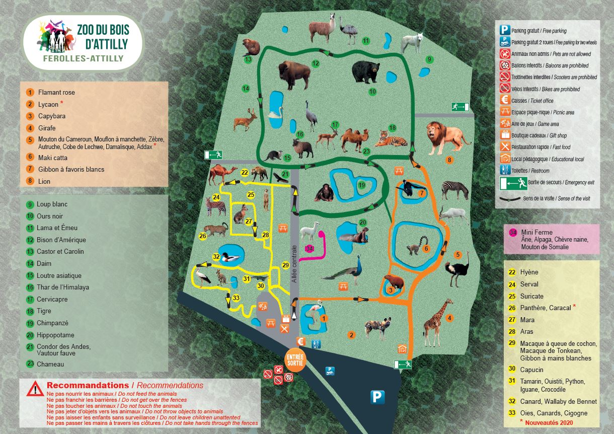 plan zoo du Bois d'Attilly